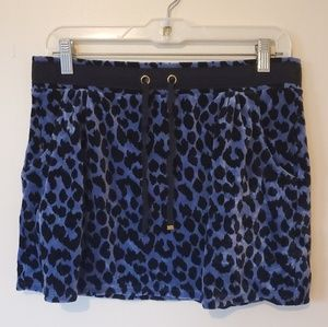 Victoria's Secret Velvet Leopard Print Mini Skirt